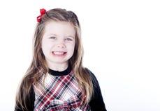 Giovane ragazza graziosa in un vestito Fotografie Stock