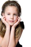 Giovane ragazza interessata Fotografie Stock