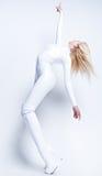 Giovane ragazza sexy nel bianco Fotografia Stock Libera da Diritti