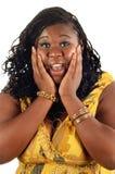 Giovane ragazza sorpresa dell'afroamericano Fotografia Stock Libera da Diritti