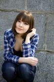 Giovane ragazza teenager attraente Immagine Stock Libera da Diritti