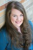 Giovane ragazza teenager reale con capelli lunghi Fotografia Stock Libera da Diritti