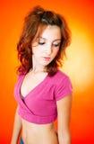 Giovane ragazza timida fotografia stock