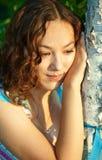 Giovane ragazza triste Immagini Stock Libere da Diritti