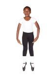 Giovane ragazzo africano di balletto Fotografia Stock