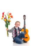 Giovane ragazzo, amore del biglietto di S. Valentino immagini stock