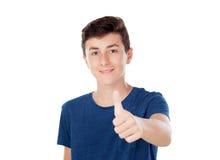 Giovane ragazzo caucasico di Brown Immagini Stock