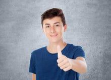 Giovane ragazzo caucasico di Brown Fotografie Stock