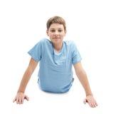 Giovane ragazzo che fa yoga Fotografia Stock Libera da Diritti