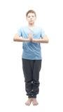 Giovane ragazzo che fa yoga Immagini Stock Libere da Diritti