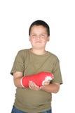 Giovane ragazzo con il getto di colore rosso immagini stock libere da diritti