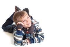 Giovane ragazzo Daydreaming immagine stock libera da diritti