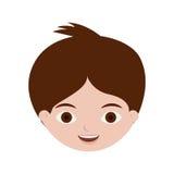 Giovane ragazzo del fronte anteriore con capelli marroni Immagine Stock Libera da Diritti