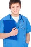 Giovane ragazzo dell'infermiera di smiley Fotografia Stock