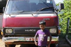 Giovane ragazzo dello Sri Lanka Immagine Stock
