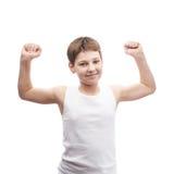 Giovane ragazzo felice in una camicia senza maniche Fotografie Stock Libere da Diritti