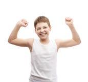 Giovane ragazzo felice in una camicia senza maniche Fotografie Stock