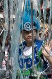 Giovane ragazzo orientale al carnevale di Notting Hill Immagini Stock Libere da Diritti