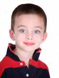 Giovane ragazzo prescolare isolato su bianco Immagine Stock Libera da Diritti