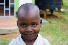 Giovane ragazzo sorridente africano Fotografia Stock Libera da Diritti