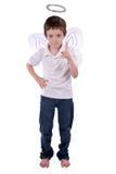 Giovane ragazzo in un costume di angelo Fotografia Stock Libera da Diritti