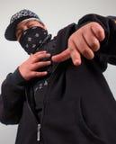 Giovane rapper del gangster Fotografia Stock