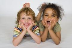 Giovane risata Fotografia Stock
