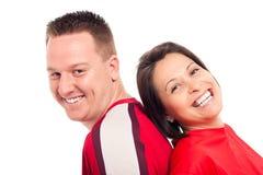 Giovane risata delle coppie Fotografie Stock