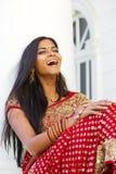 Giovane risata indiana della donna Fotografia Stock