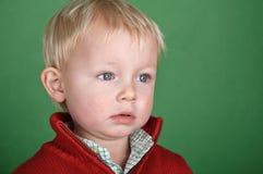 Giovane ritratto del bambino maschio sullo schermo verde Immagine Stock