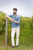 Giovane ritratto del vinemaker Fotografie Stock Libere da Diritti
