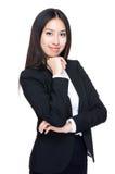 Giovane ritratto della donna di affari fotografie stock