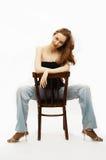 Giovane ritratto della ragazza di bellezza Fotografie Stock Libere da Diritti