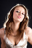 Giovane ritratto sexy di fascino della donna Fotografie Stock