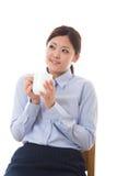 Giovane rottura della donna di affari Immagine Stock