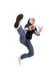 Giovane salto dell'adulto Fotografia Stock