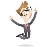 Giovane salto felice dell'uomo d'affari illustrazione vettoriale