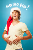 Giovane Santa Laughing Fotografia Stock