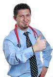 Giovane segno maschio del dottore Makes OK Fotografia Stock Libera da Diritti