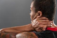 Giovane sensibilità africana bella del giocatore di pallacanestro Fotografia Stock