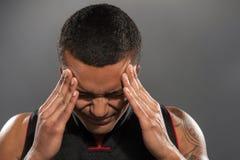 Giovane sensibilità africana bella del giocatore di pallacanestro Fotografie Stock