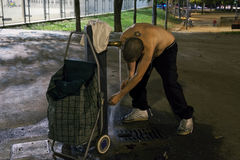 Giovane senza tetto - 01 Fotografia Stock