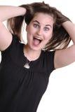 Giovane signora abbastanza emozionante Immagine Stock