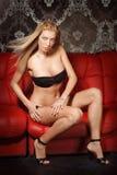 Giovane signora bionda sexy Fotografia Stock Libera da Diritti