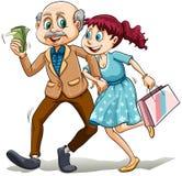 Giovane signora con il suo papà di zucchero Fotografia Stock