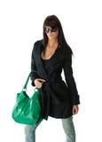 Giovane signora con la borsa Fotografia Stock Libera da Diritti