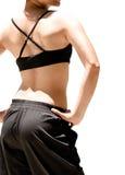 Giovane signora orientale sexy isolata che si leva in piedi esterna Fotografia Stock Libera da Diritti