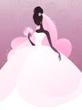 Giovane siluetta della sposa Immagini Stock Libere da Diritti
