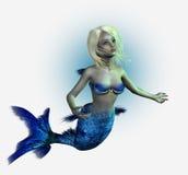 Giovane sirena - include il percorso di residuo della potatura meccanica royalty illustrazione gratis