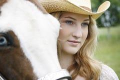 Giovane sogno di cavallerizze Fotografia Stock